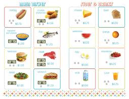 Make Your Own Menu! |