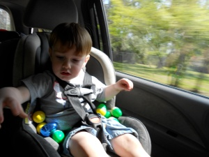 covered in eggs on the drive home