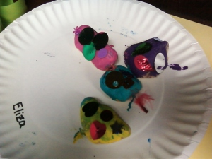 "I was told that these pet rocks were modeled after the monsters in ""Monsters Inc."" :)  Very creative."